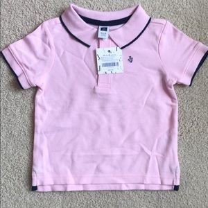 Baby Boys Janie and Jack Pink Polo Shirt